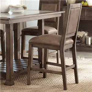 Casual Upholstered Counter Chair