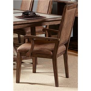 Casual Upholstered Arm Chair