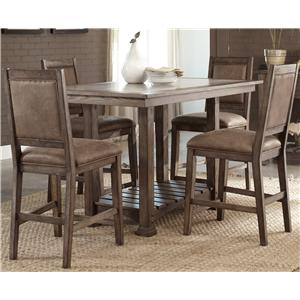 Casual 5 Piece Gathering Table Set