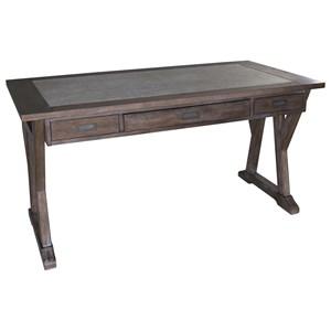 Laptop Desk with Double Pedestal Base