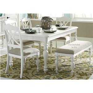 5 Piece Rectangular Table Set with Turned Legs