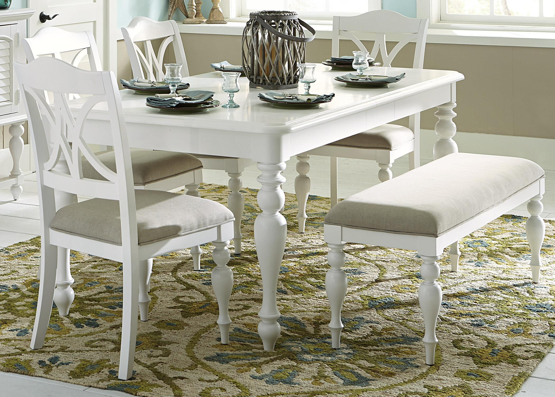 Summer House I 6 Piece Rectangular Table Set  by Libby at Walker's Furniture
