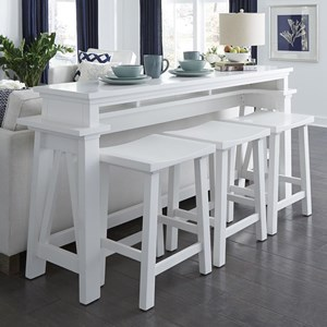 4-Piece Counter Height Console Bar Table Set