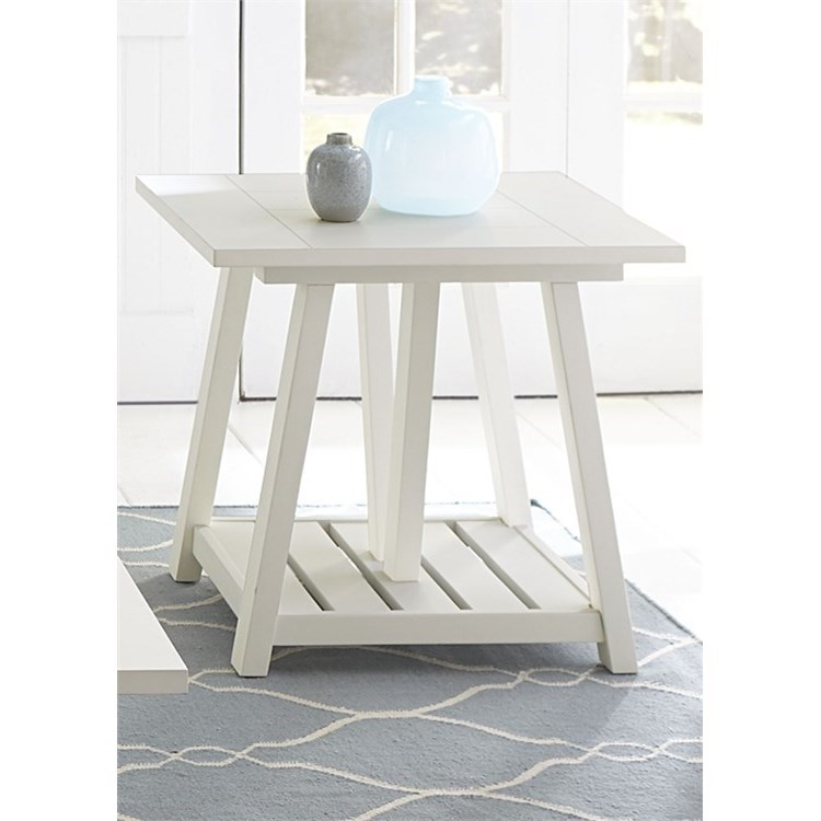 Summer House I End Table by Libby at Walker's Furniture
