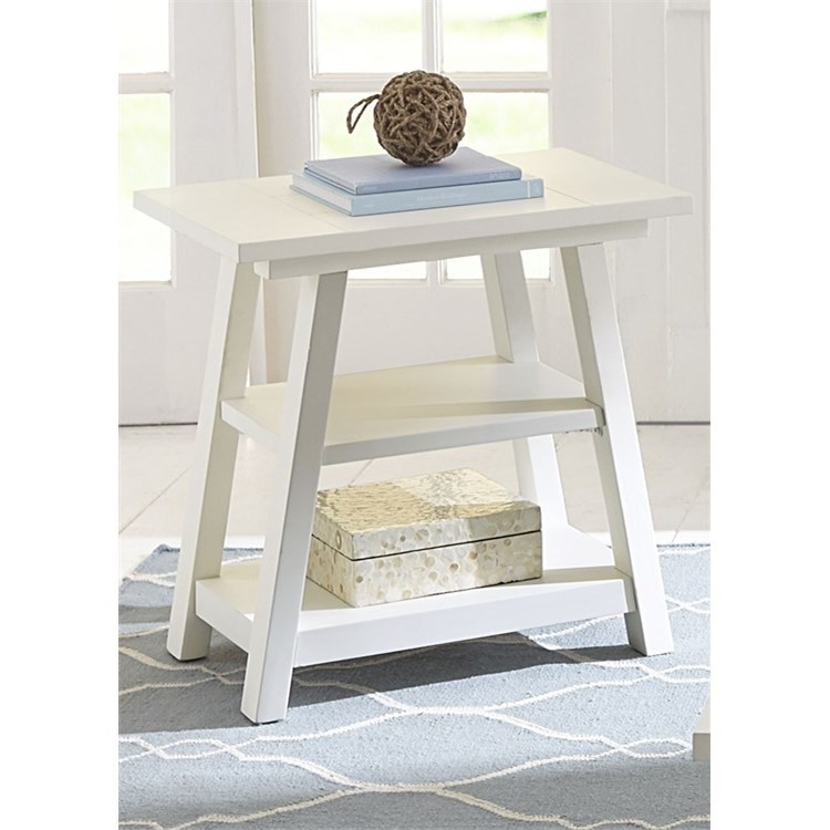 Summer House I Chair Side Table by Libby at Walker's Furniture