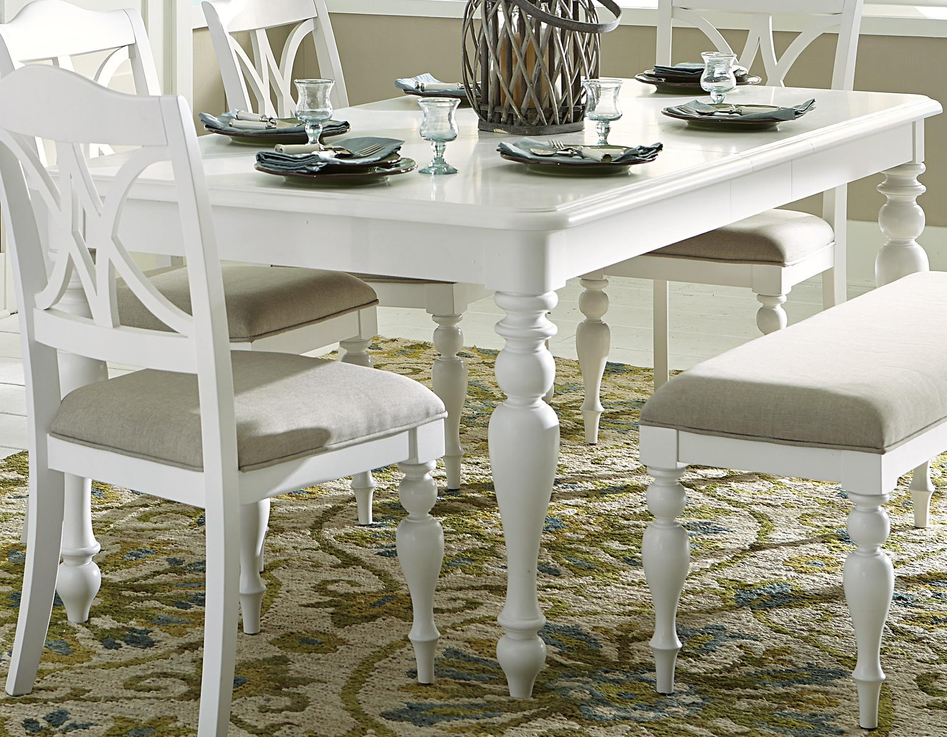 Summer House I Rectangular Leg Table by Libby at Walker's Furniture