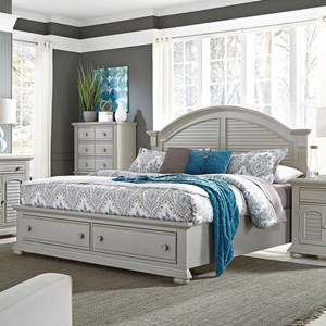 King Storage Bed with Two Drawers
