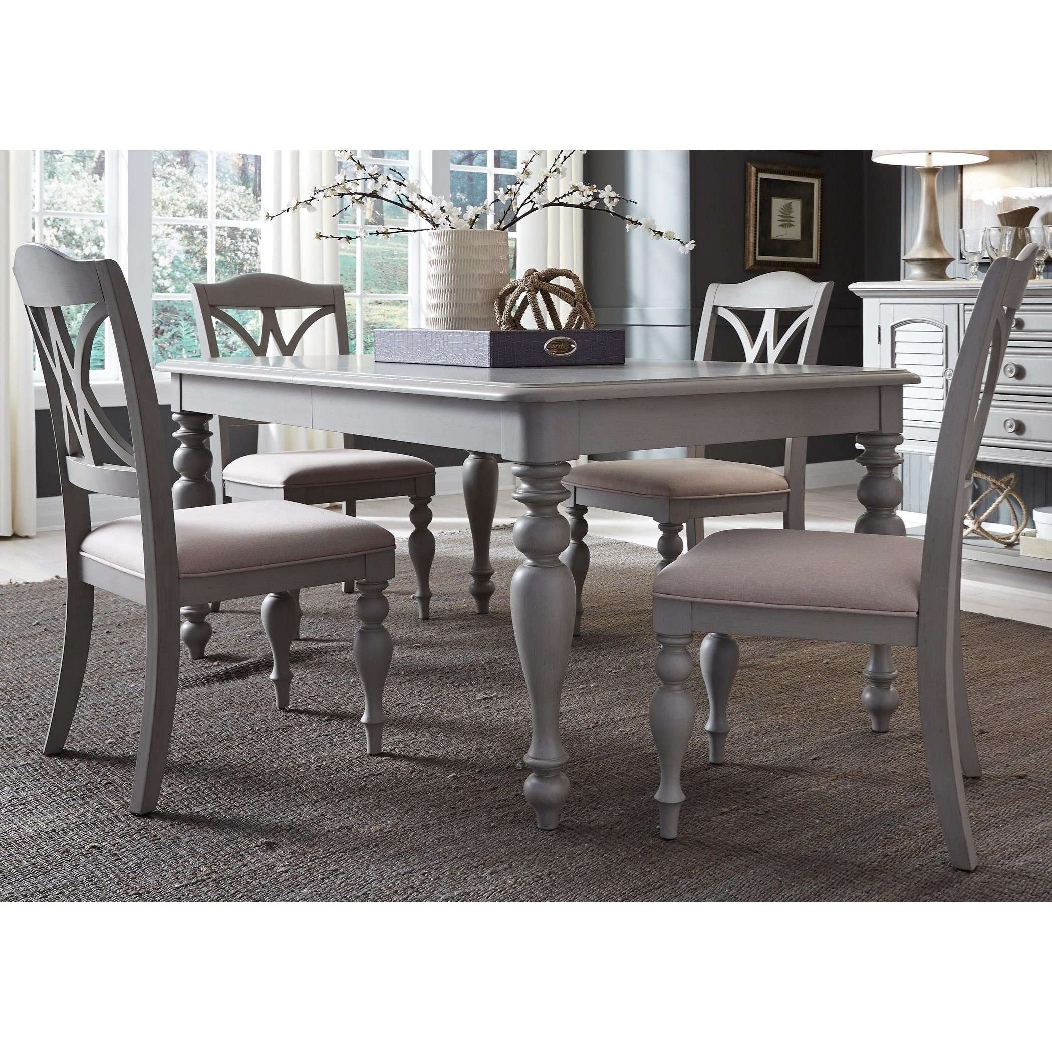 Summer House Dining 5 Piece Rectangular Table Set  by Liberty Furniture at Northeast Factory Direct