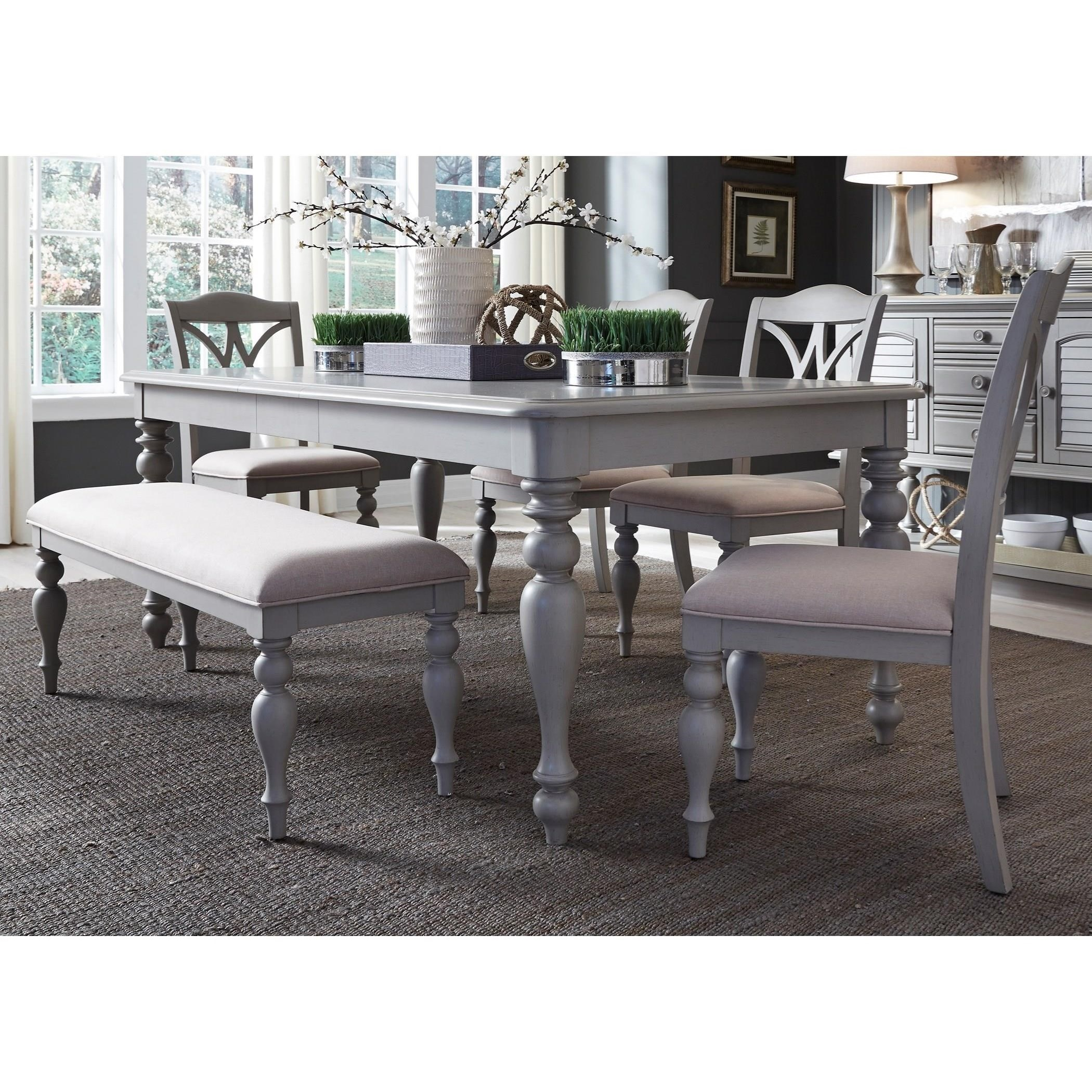 Summer House Dining 6 Piece Rectangular Table Set  by Liberty Furniture at Northeast Factory Direct