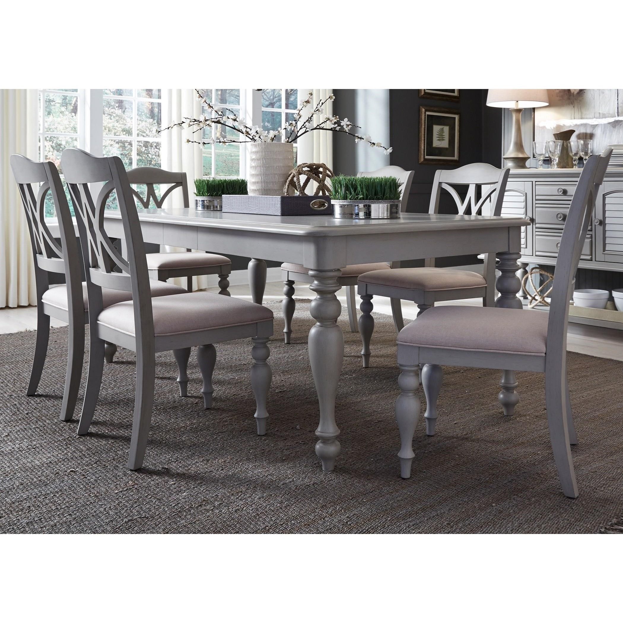 Summer House Dining 7 Piece Rectangular Table Set  by Libby at Walker's Furniture