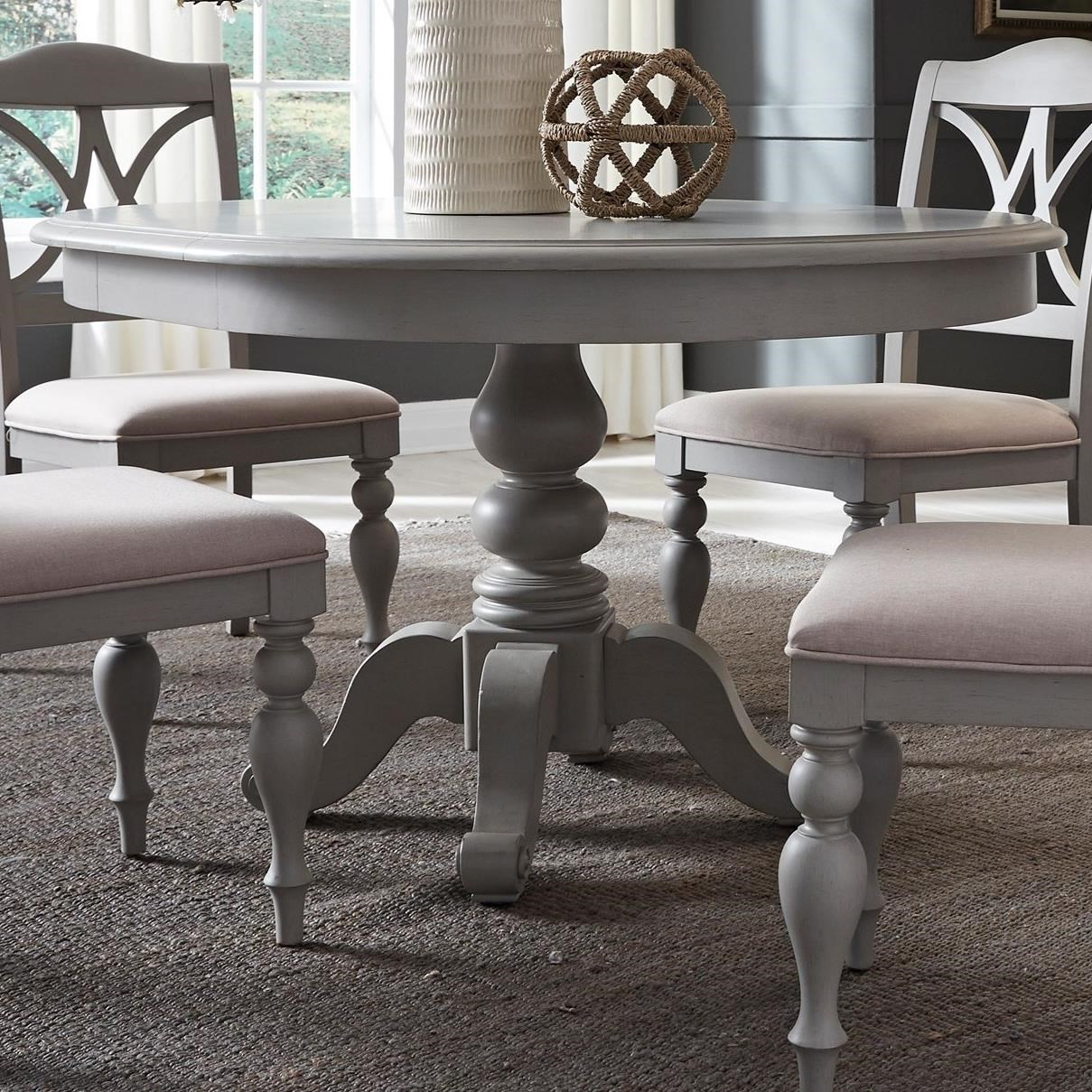 Summer House Dining Round Pedestal Table by Libby at Walker's Furniture