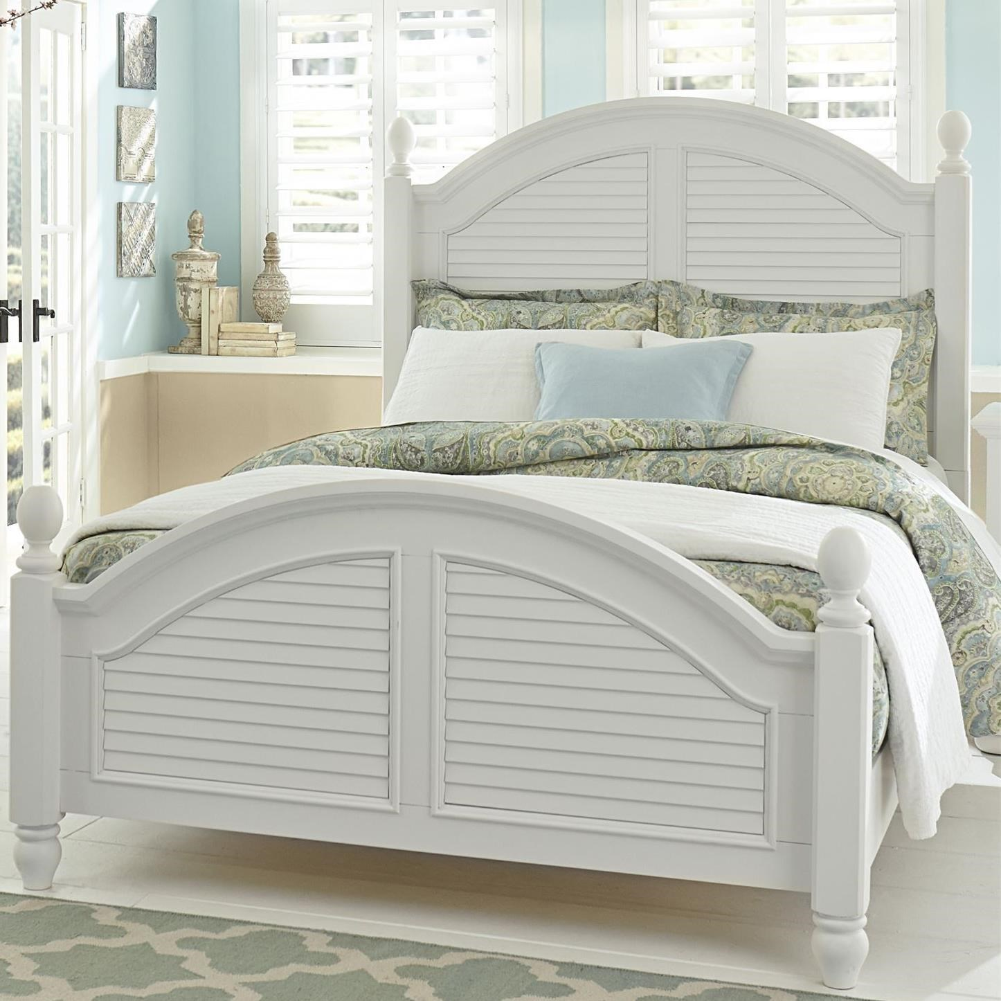 Summer House King Poster Bed by Libby at Walker's Furniture