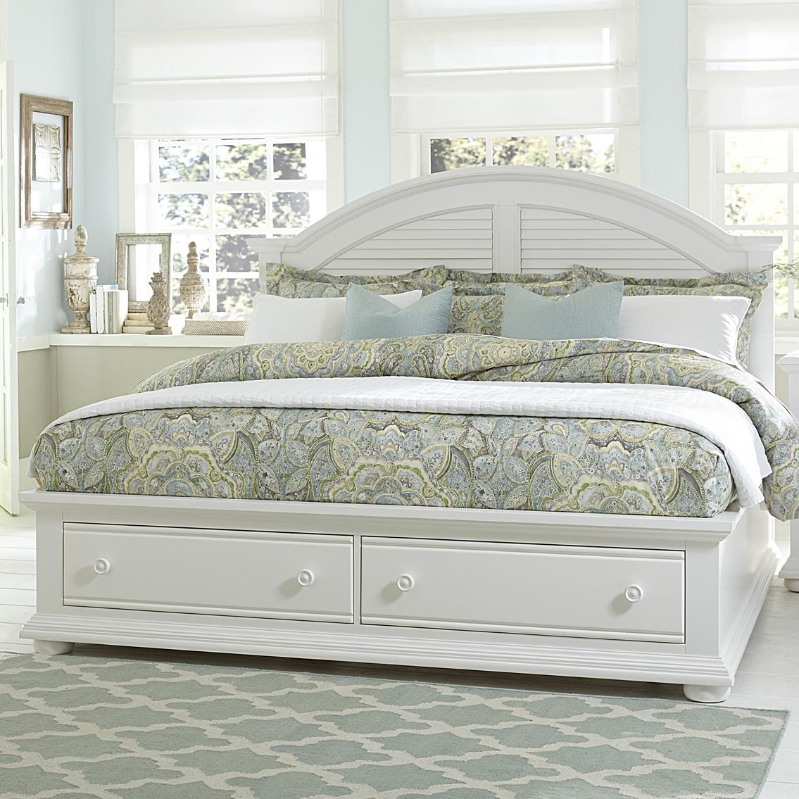 Summer House King Storage Bed by Libby at Walker's Furniture