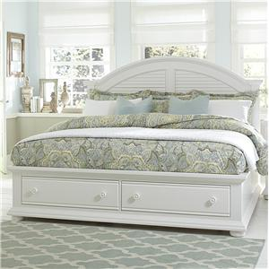 Cottage King Bed with Storage Footboard