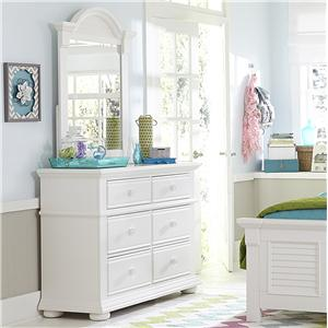 Liberty Furniture Summer House Media Chest and Small Mirror