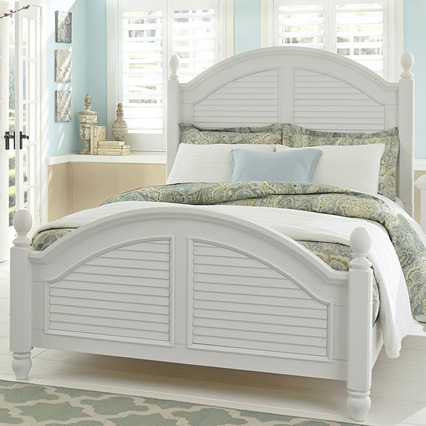 Summer House Queen Poster Bed by Liberty Furniture at Zak's Home