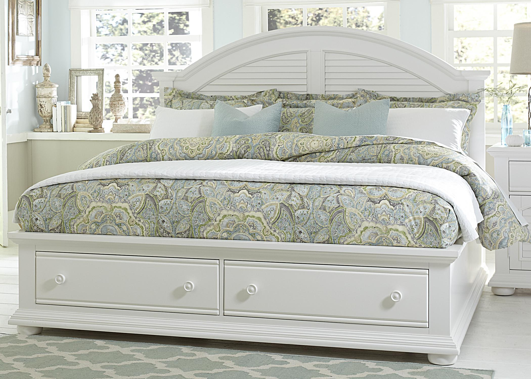 Summer House Queen Storage Bed by Libby at Walker's Furniture
