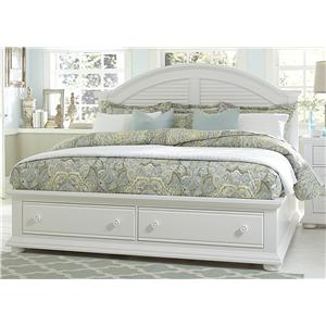 Cottage Queen Bed with Storage Footboard