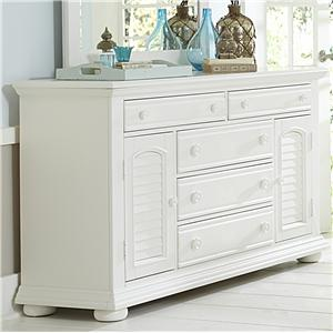 Cottage 2 Door 5 Drawer Dresser