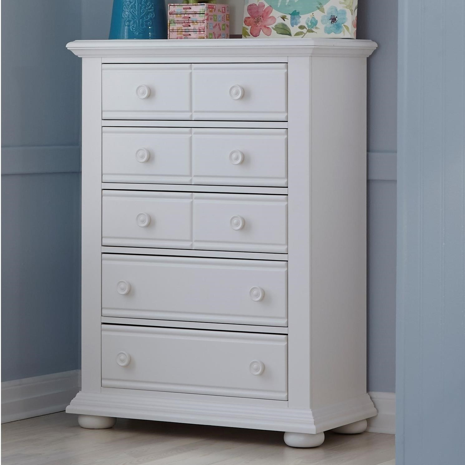 Summer House 5 Drawer Chest by Libby at Walker's Furniture