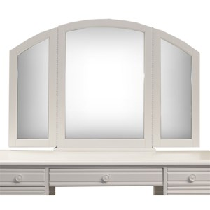 Cottage Style Tri-Fold Vanity Mirror