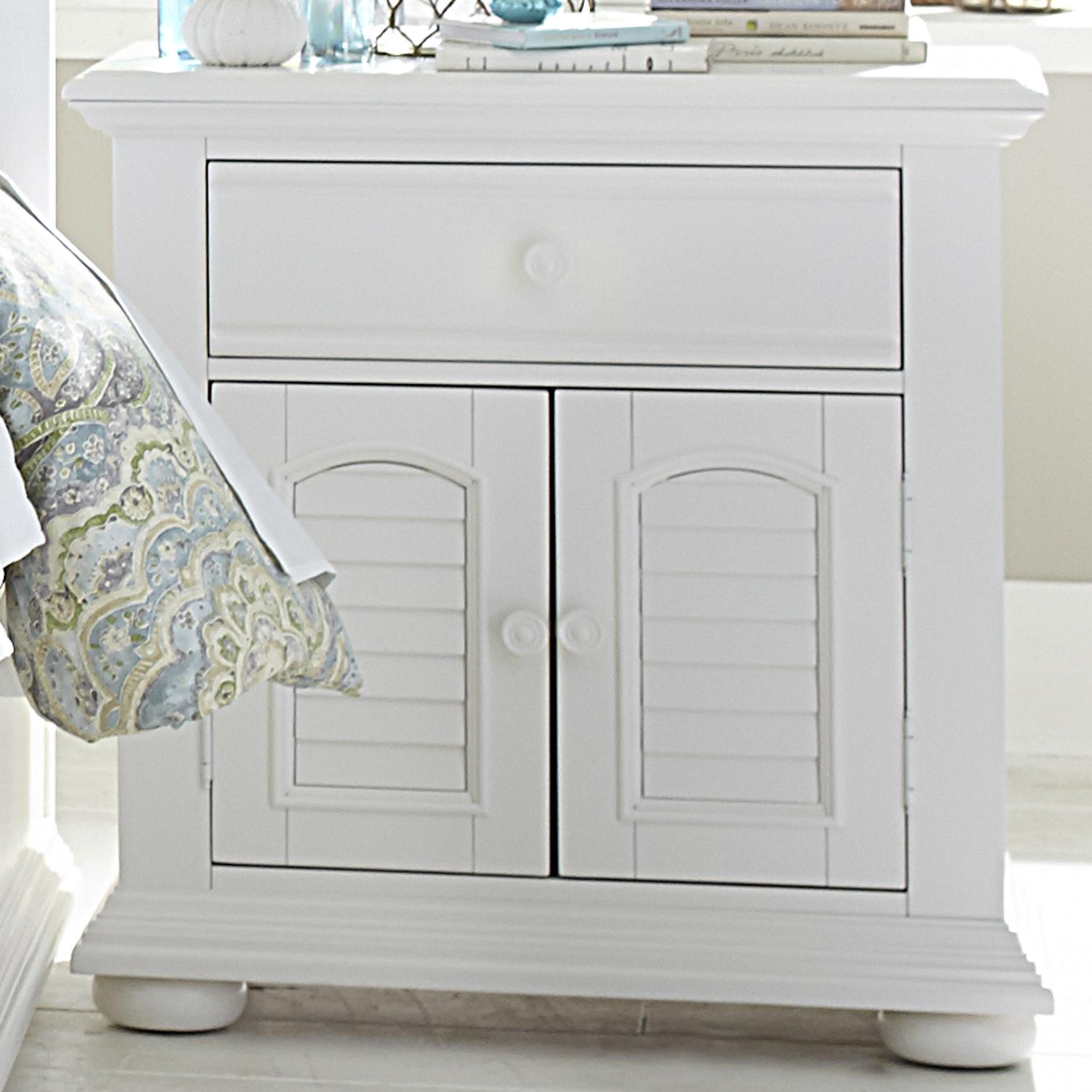 Summer House 2 Door 1 Drawer Night Stand by Libby at Walker's Furniture