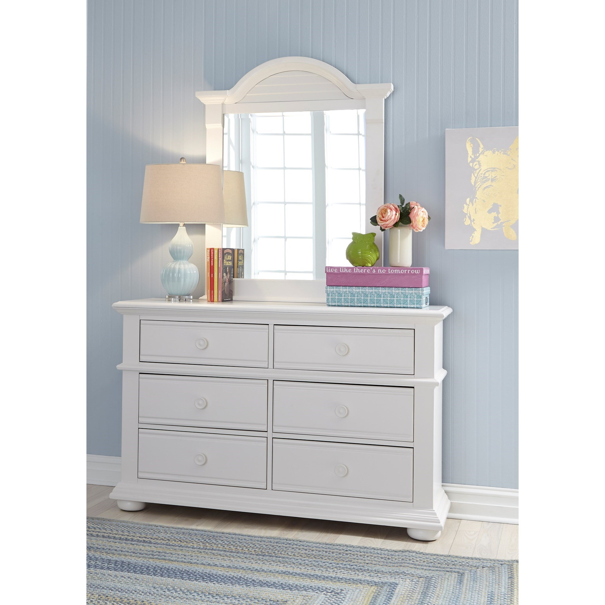 Summer House Dresser & Mirror  by Libby at Walker's Furniture