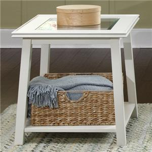 End Table with Lower Shelf