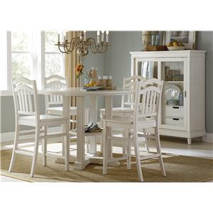 Liberty Furniture Summerhill 5-Piece Counter Height Dining Set
