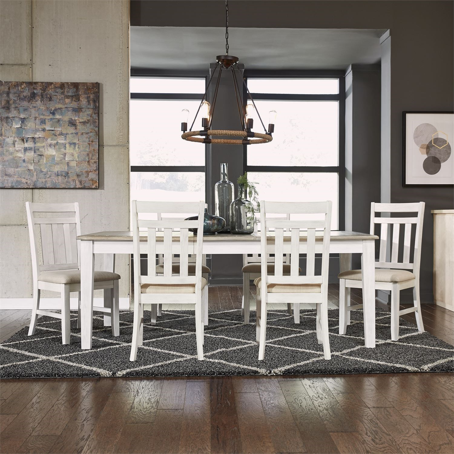Summerville 7 Piece Rectangular Table Set by Libby at Walker's Furniture