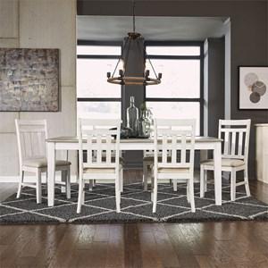 Cottage Style 7 Piece Rectangular Table Set