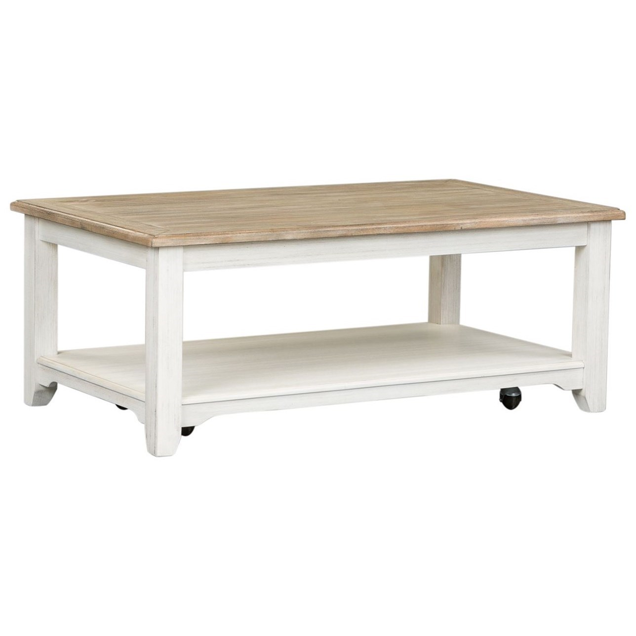 Summerville Rectangular Cocktail Table by Libby at Walker's Furniture