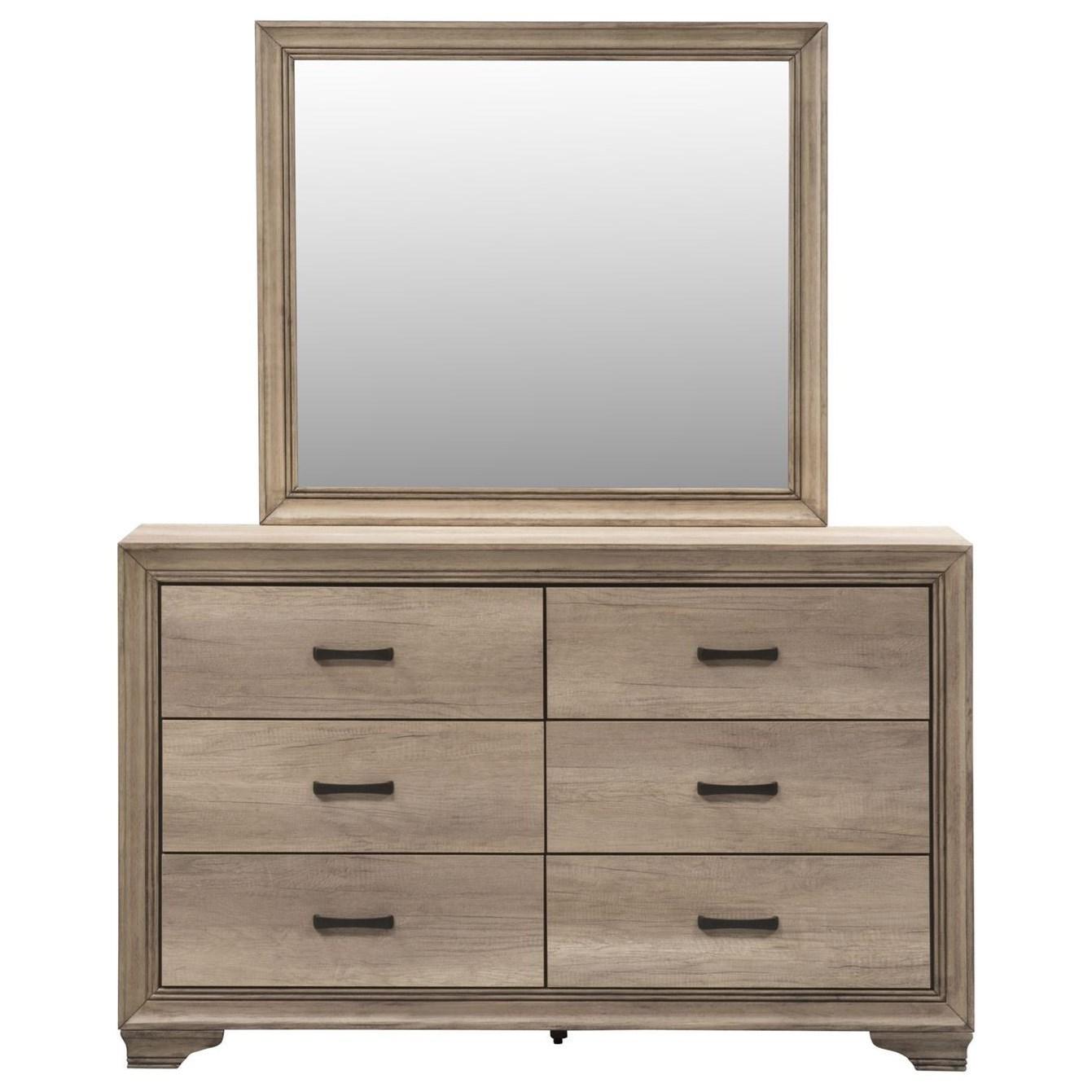 Sun Valley Dresser & Mirror  by Libby at Walker's Furniture