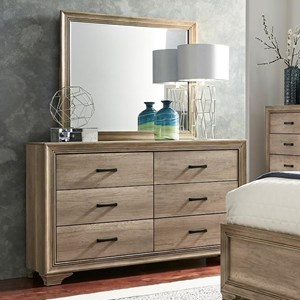 Liberty Furniture Sun Valley 439 Dresser & Mirror