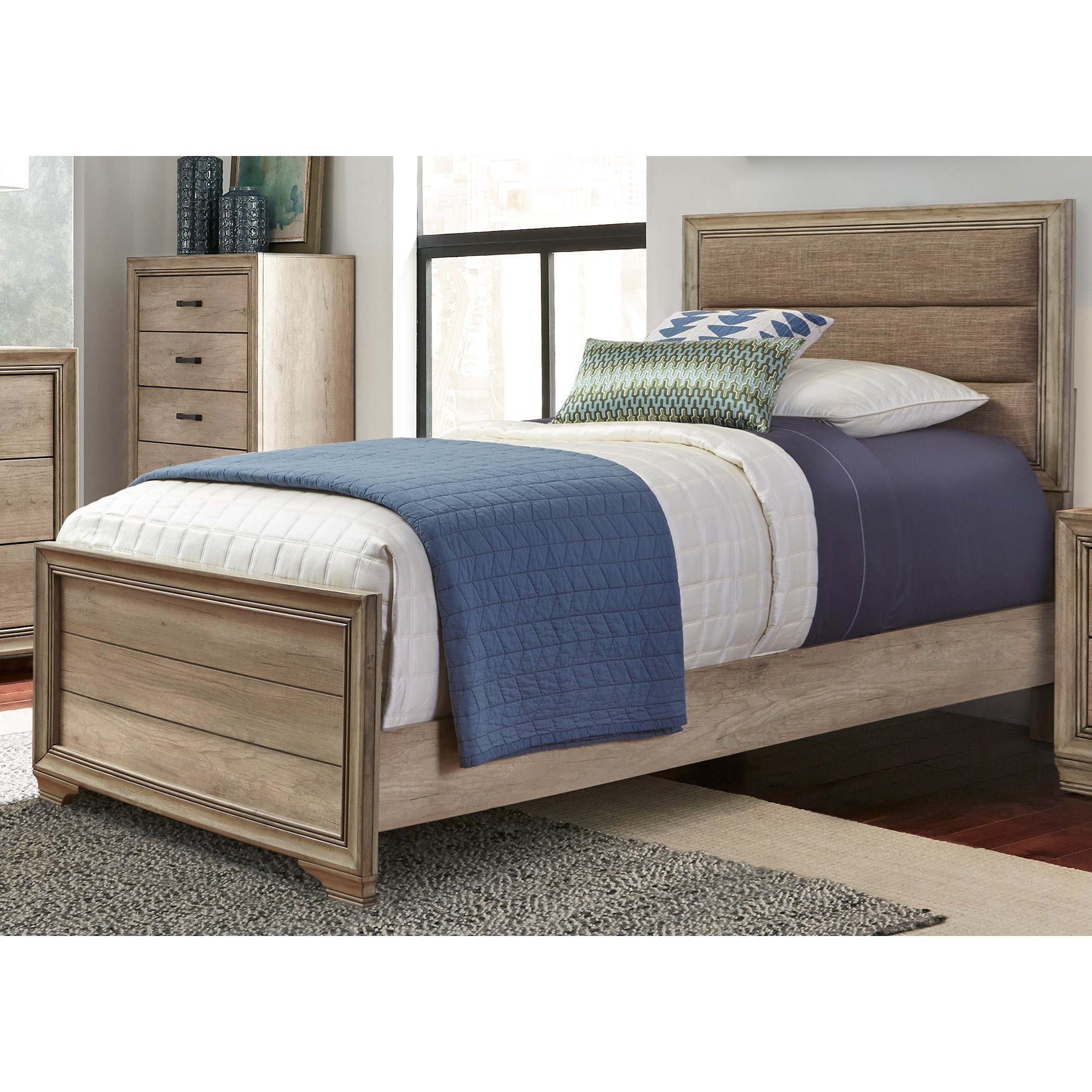 Sun Valley Twin Upholstered Panel Bed  by Freedom Furniture at Ruby Gordon Home