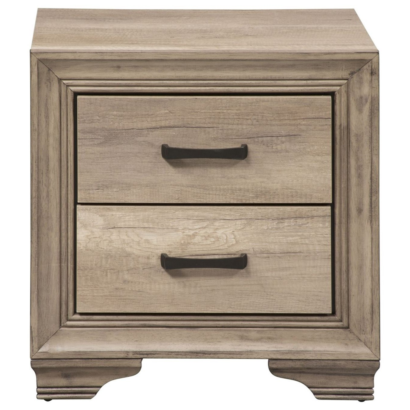 Sun Valley 2 Drawer Night Stand by Liberty Furniture at Steger's Furniture