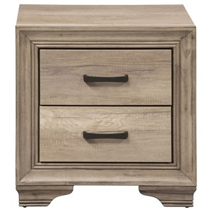 Nightstand with 2 Dovetail Drawers