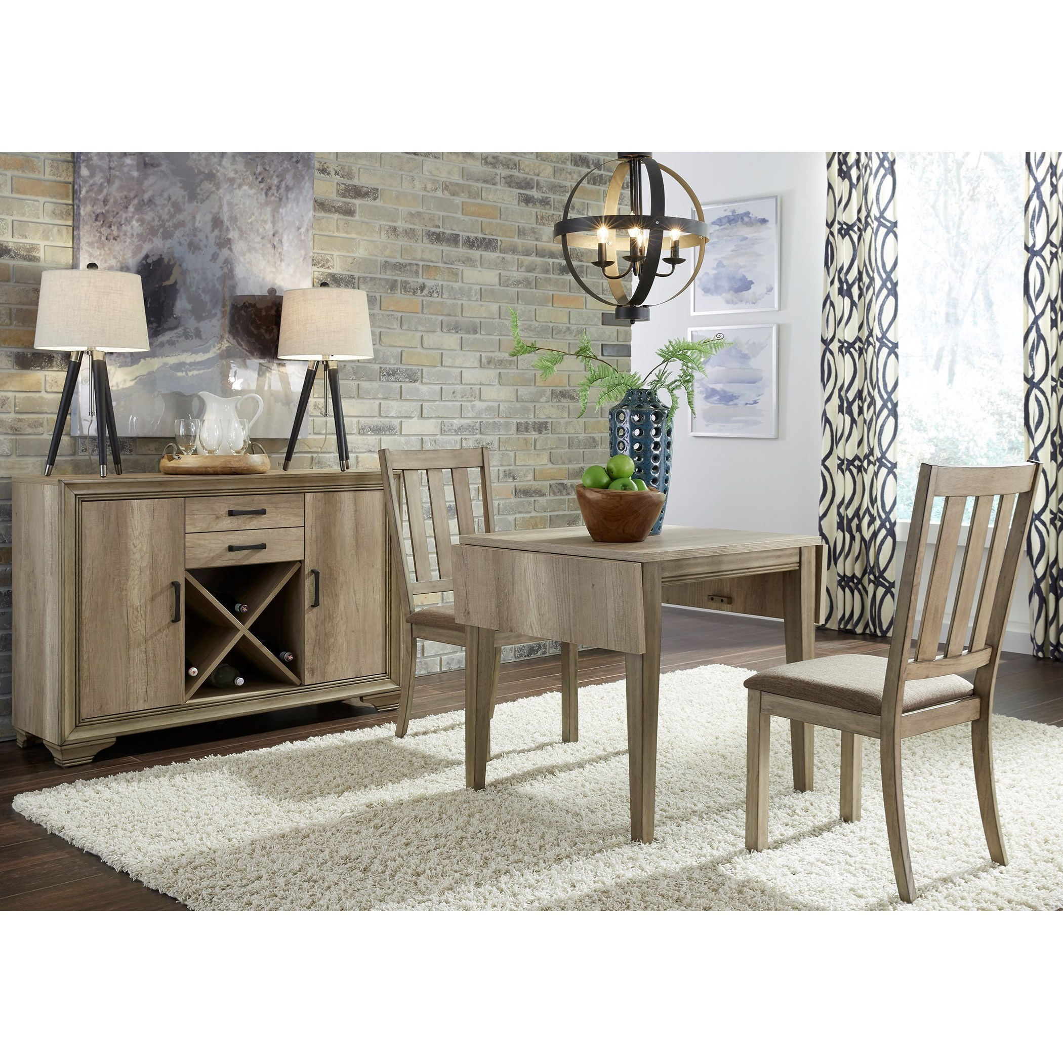 Sun Valley 3 Piece Drop Leaf Set by Libby at Walker's Furniture