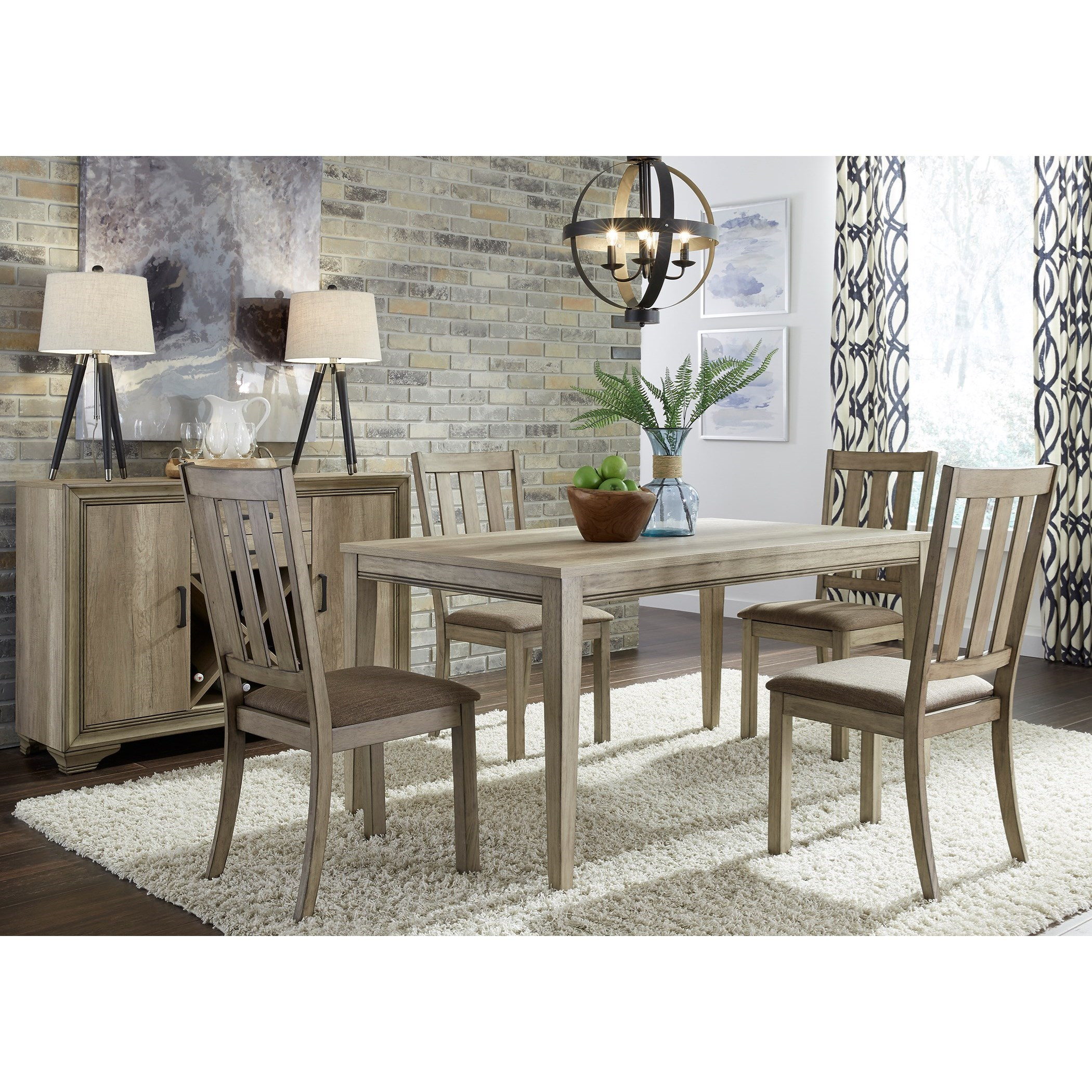 Sun Valley 5 Piece Leg Table Set  by Liberty Furniture at Lapeer Furniture & Mattress Center