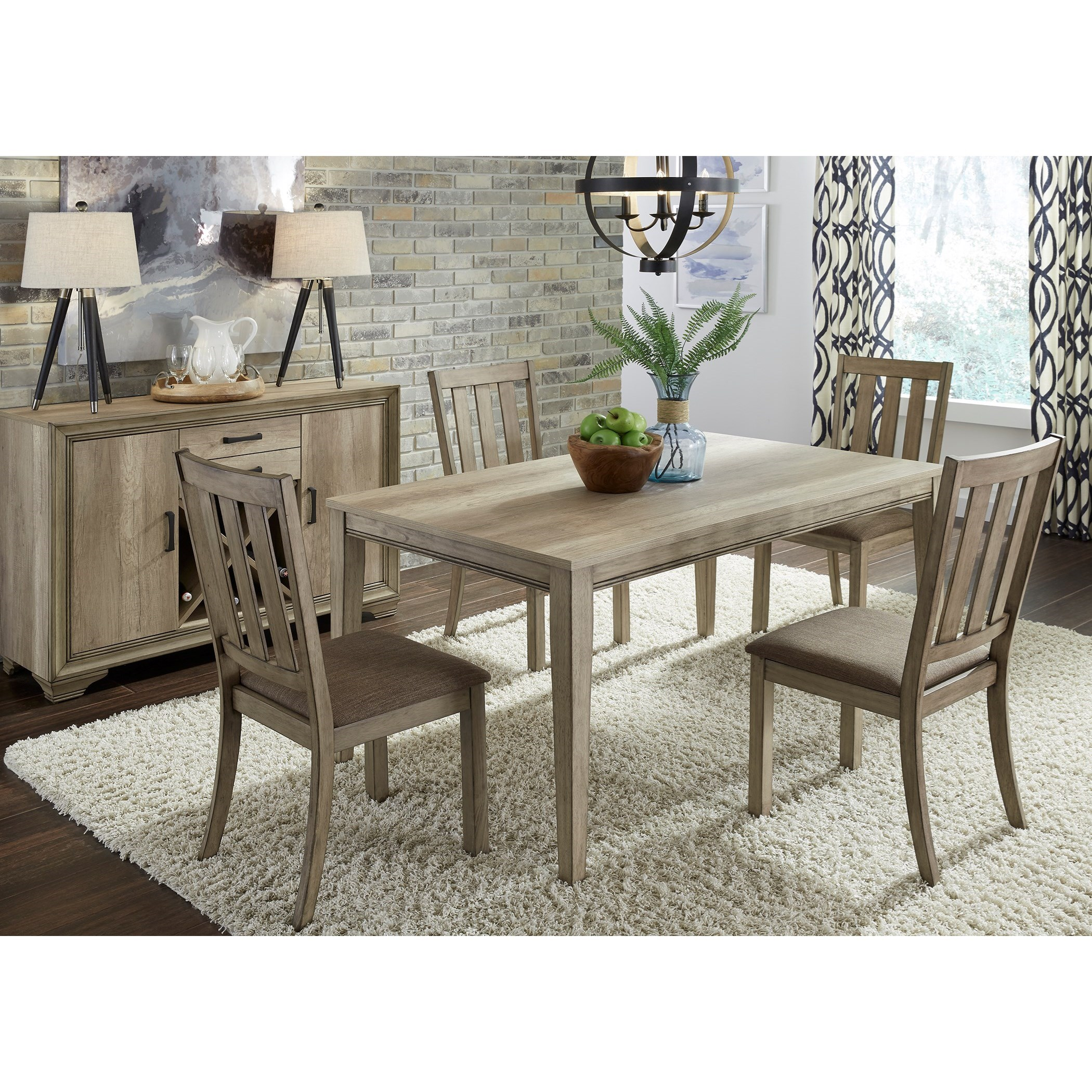 Sun Valley 5 Piece Rectangular Table Set  by Liberty Furniture at Lapeer Furniture & Mattress Center