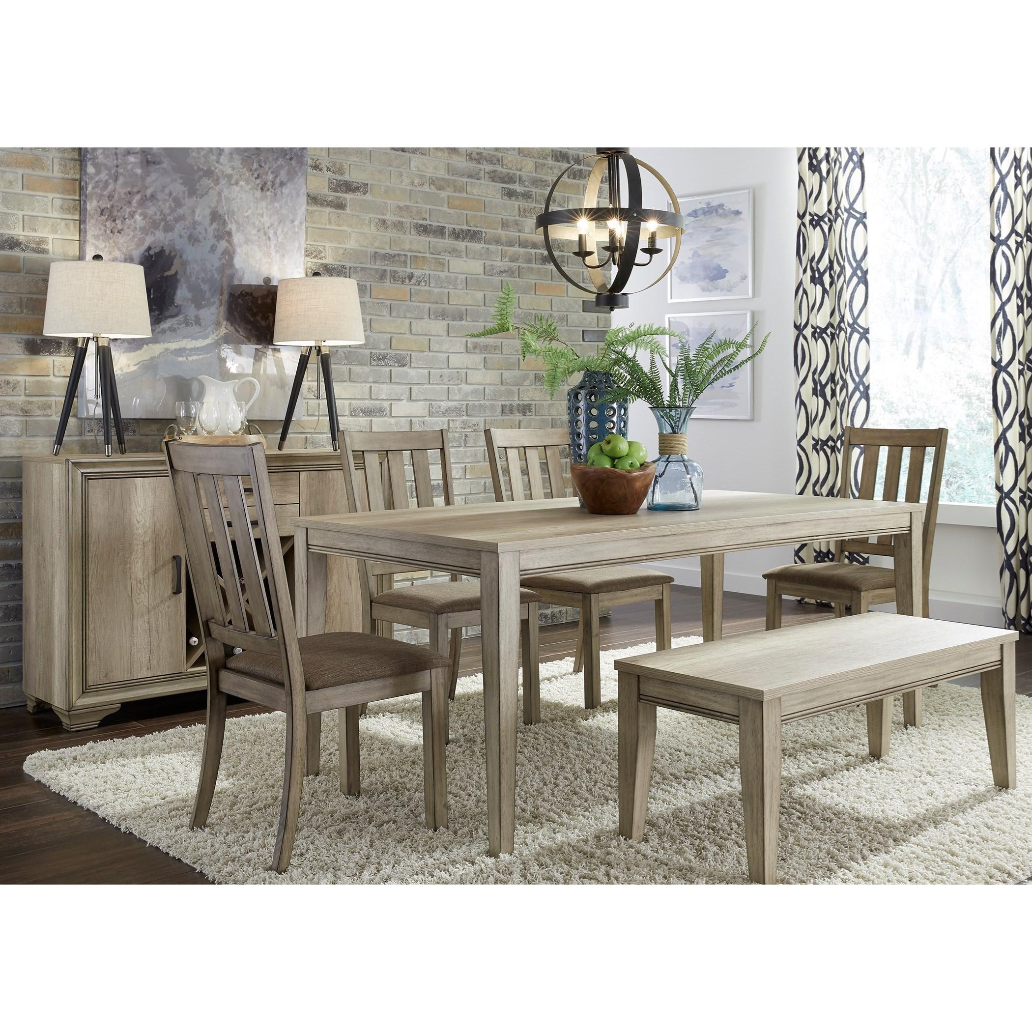Sun Valley 6 Piece Rectangular Table Set by Liberty Furniture at Johnny Janosik