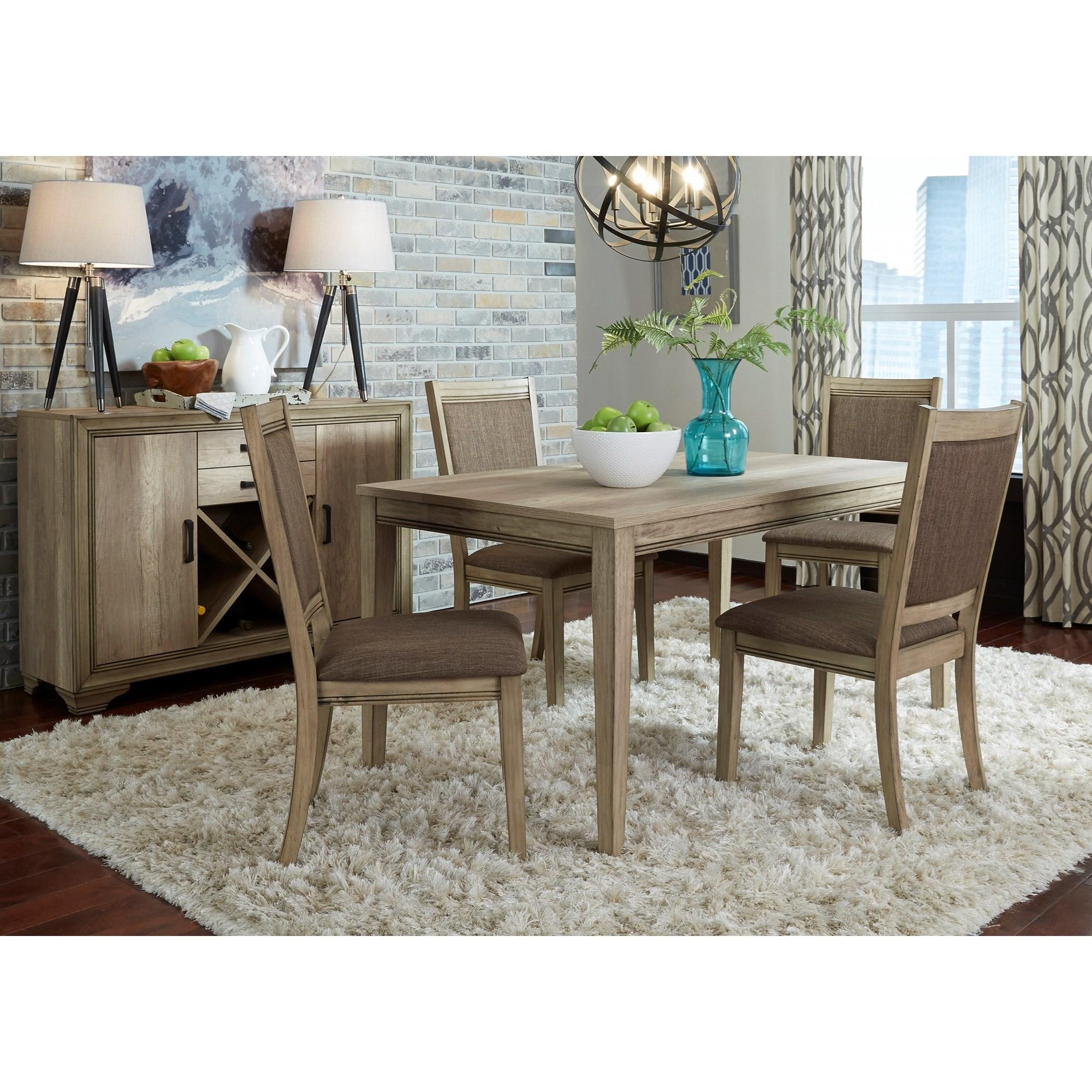 Sun Valley Opt 5 Piece Leg Table Set  by Liberty Furniture at Lapeer Furniture & Mattress Center
