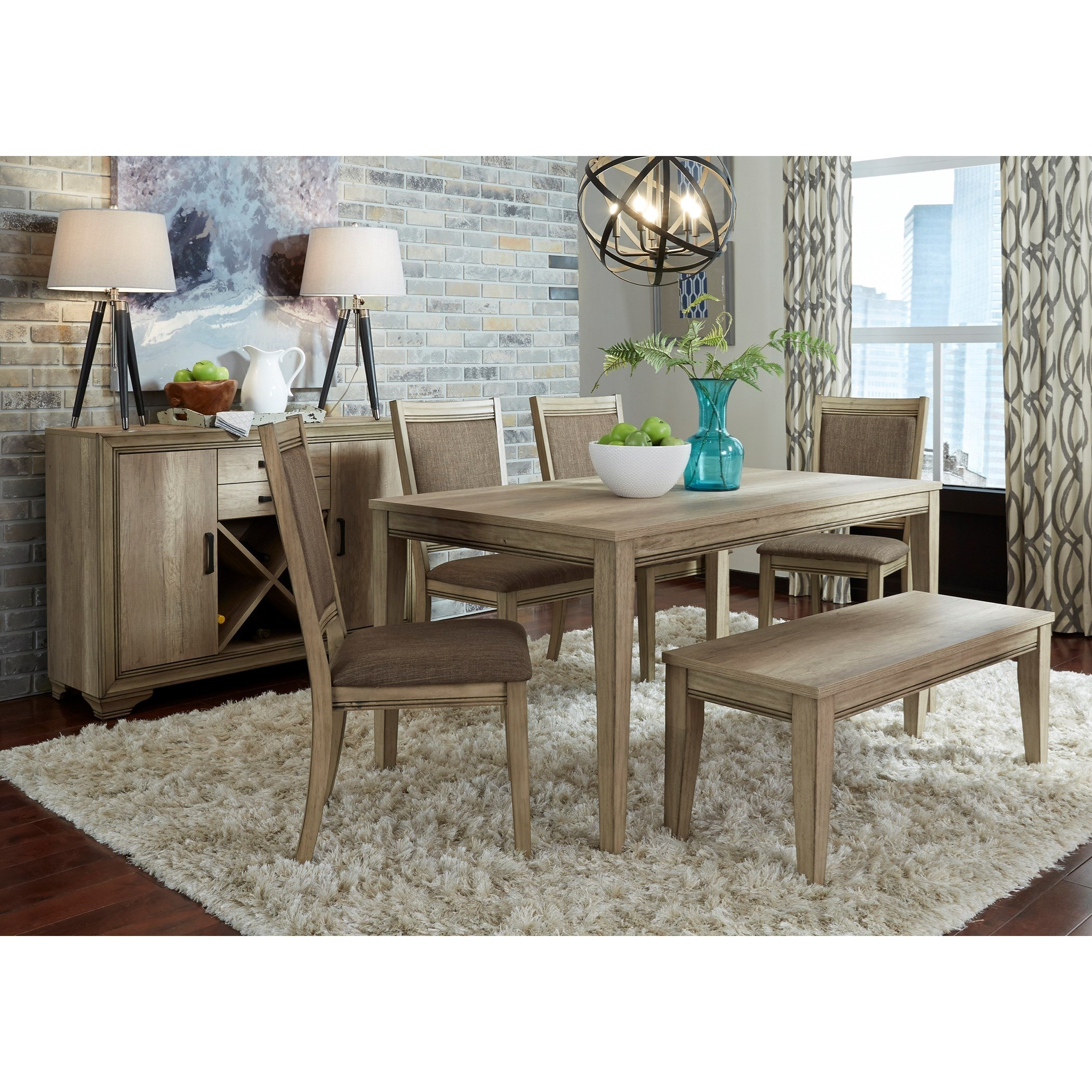 Sun Valley Opt 6 Piece Rectangular Table Set  by Liberty Furniture at Bullard Furniture