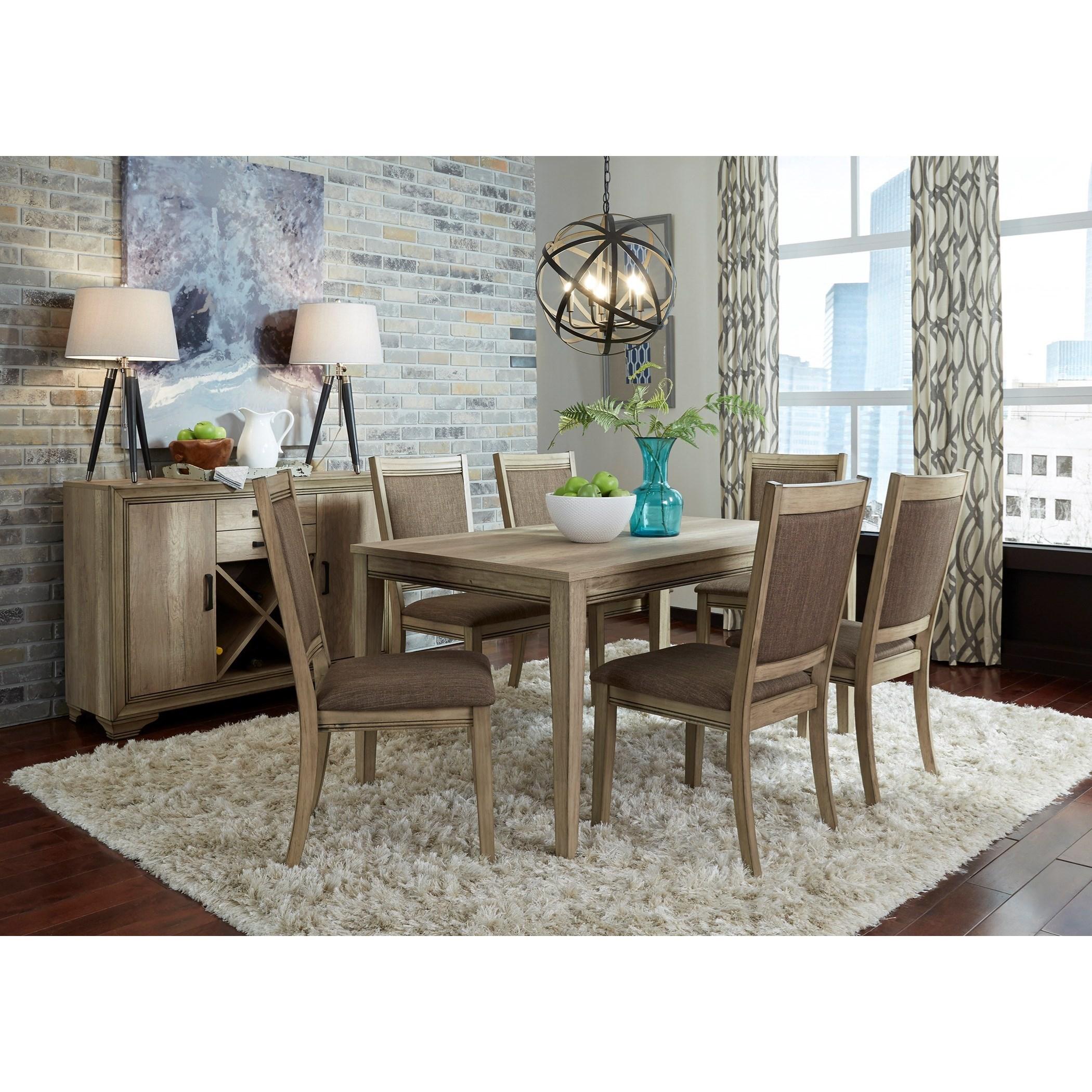Sun Valley Opt 7 Piece Rectangular Table Set  by Liberty Furniture at Standard Furniture