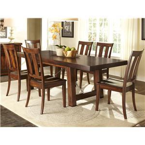 Liberty Furniture Tahoe 7 Piece Dining Table Set