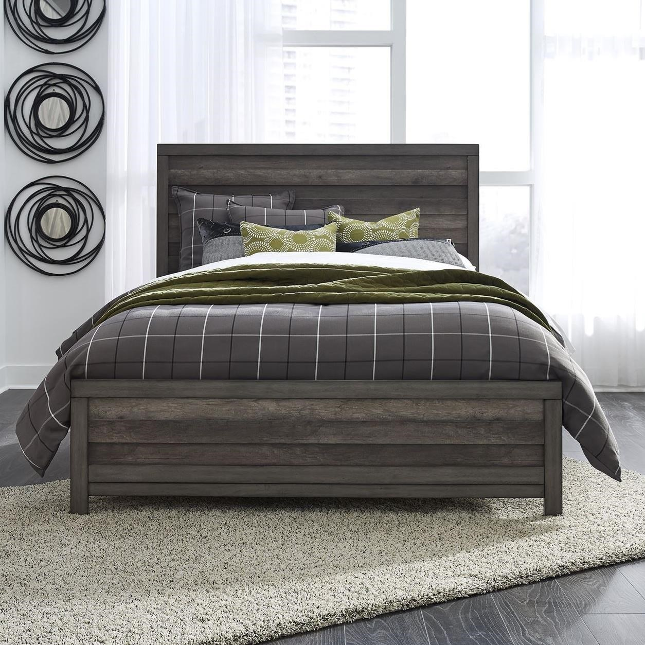 Tanners Creek Twin Panel Bed by Libby at Walker's Furniture