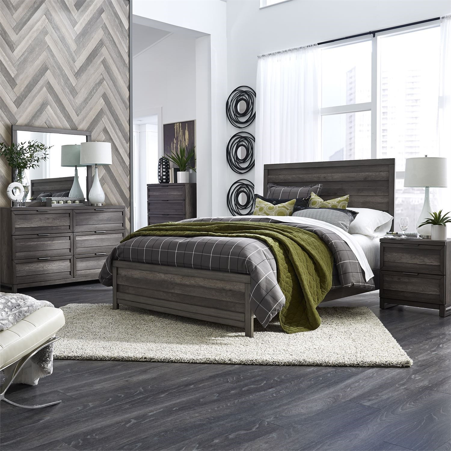 Tanners Creek King Bedroom Group by Libby at Walker's Furniture