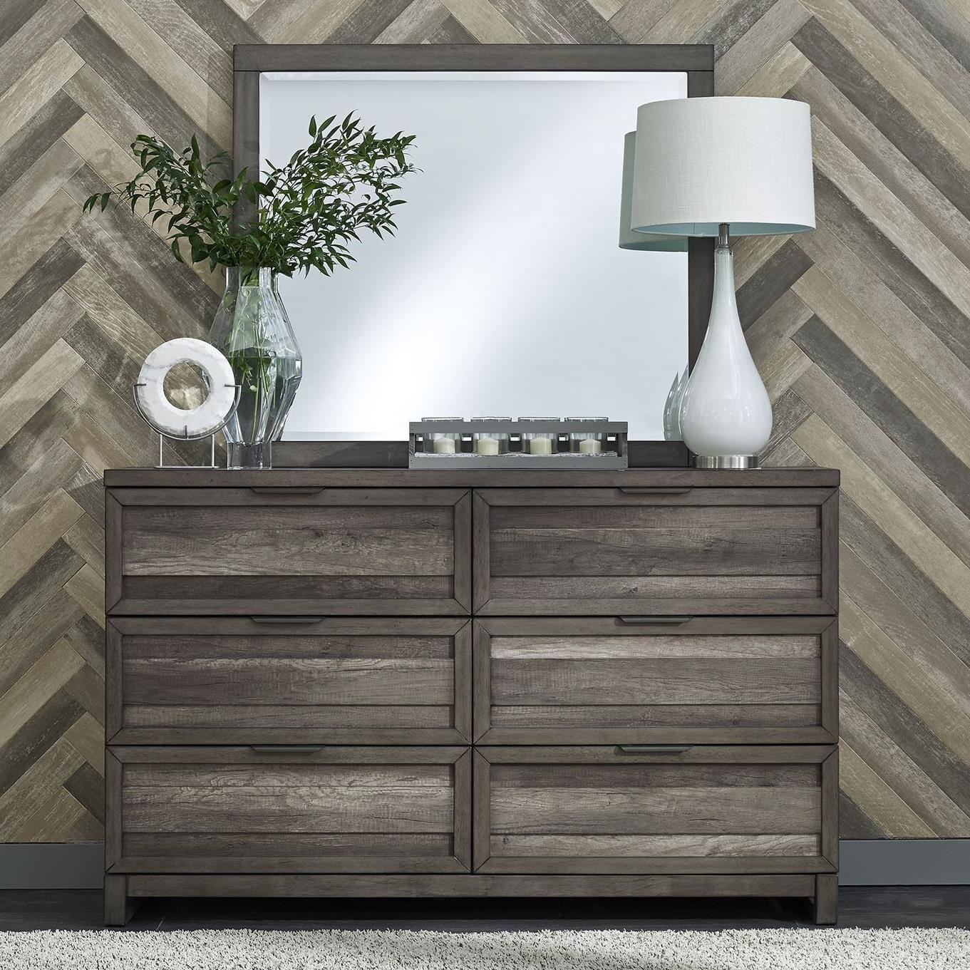 Tanners Creek Dresser and Mirror by Libby at Walker's Furniture