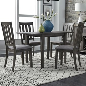 5 Piece Drop Leaf Set Table and Chair Set