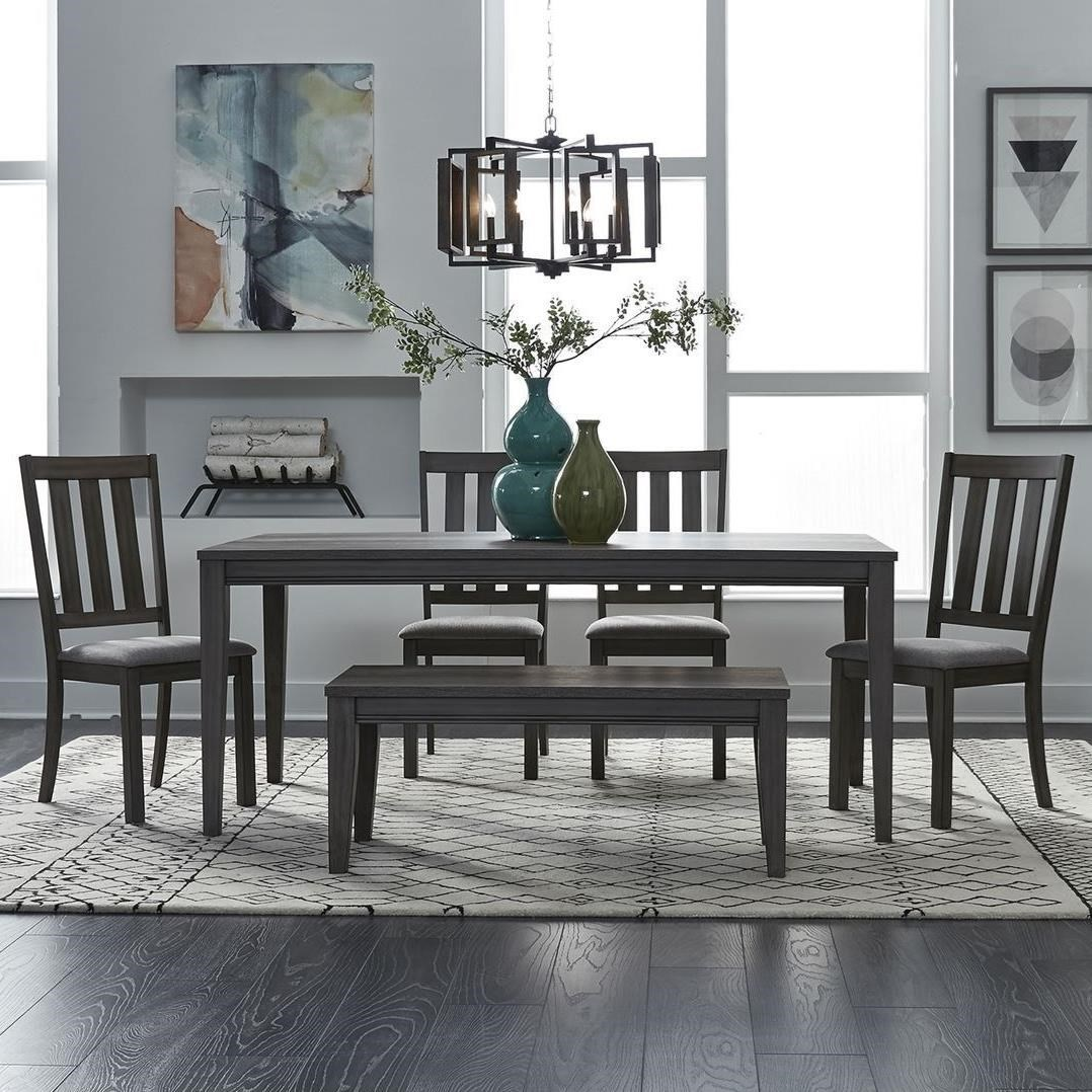 Tanners Creek 6 Piece Rectangular Table Set  by Libby at Walker's Furniture